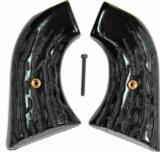 Hawes Western Marshall Imitation Jigged Buffalo Horn Grips - 1 of 2
