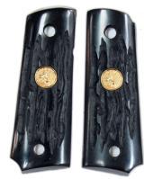Colt 1911 Officers Model Imitation Jigged Buffalo Horn Grips