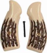 Smith & Wesson K Frame, Imitation Jigged Bone Grips - 1 of 1