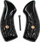 Smith & Wesson J Frame Imitation Jigged Buffalo Horn Grips - 1 of 1