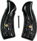 Smith & Wesson K Frame Imitation Jigged Buffalo Horn Grips - 1 of 1