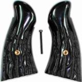 Smith & Wesson N Frame Imitation Jigged Buffalo Horn Grips - 1 of 1