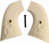 Pietta 1873 SA Revolver Ivory-Like Checkered Grips - 1 of 1