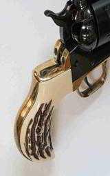 Ruger Vaquero Lightning Brass Backstrap, Jigged Grips
