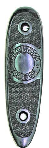 Remington Model 12A Buttplate, Early Round Barrel Type