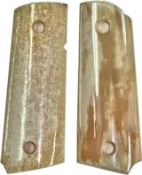 Colt 1911 Officers Model Real Fossilized Alaskan Walrus Ivory Grips