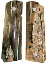 Colt 1911 Fossilized Walrus Ivory Grips - 1 of 2