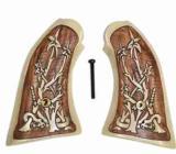 Remington 1858 Uberti Antiqued Grips, Snake in Bush