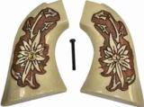 Colt Scout & Frontier Ivory-Like Antiqued Grips, Pinwheel Flower
