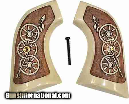 Ruger New Vaquero 2005 XR3 Ivory-Like Antiques Grips, Arrow