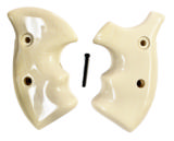 Smith & Wesson K Frame Real Ivory Combat Grips, Round Butt