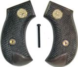 Colt 1877 Lightning Revolver Royalwood Grips, Checkered With Medallions