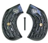Ruger Birdshead Imitation Jigged Buffalo Horn Grips With Medallions - 1 of 1