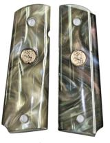 Colt 1911 Pearl Premium Grips, Abalone, With Medallions