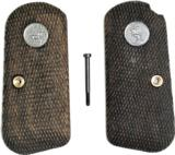 Original Colt 1903 - 1908 Hammerless Auto Walnut Checkered Grips