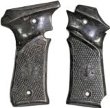 Original Llama Models III & IIIA Auto Vintage Grips, 9mm & .380, Brown