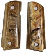 Colt 1911 Officers Model Real Ram Horn Grips