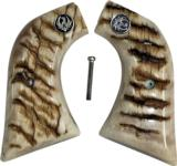 Ruger Super Blackhawk Real Ram Horn Grips With Medallions