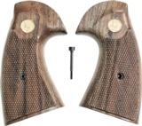 Colt Python 2nd Generation Walnut Grips, Smiley Checkered Pattern