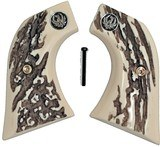 Ruger Vaquero XR3-Red Stag-Like Grips With Medallions