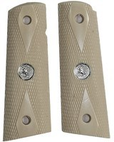 Colt 1911 Ivory-Like Grips, Checkered Double Diamond With Medallions