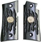 Colt Mustang or Colt Pocketlite Imitation Buffalo Horn Grips With Medallions
