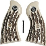 Ruger Redhawk Revolver Imitation Jigged Bone Grips With Medallions