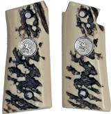 Colt Mustang & Colt Pocketlite Stag-Like Grips With Medallions