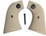 Ruger New Vaquero 2005 XR3 Ivory-Like Grips, Checkered With Medallions