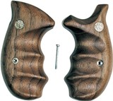 Smith & Wesson K & L Frame Smooth Walnut Combat Grips, Round Butt