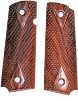 Colt 1911 Rosewood Checkered Grips - Special Sale - 1 of 1