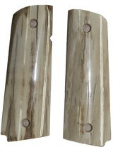 Colt 1911 Real Fossilized Alaskan Walrus Ivory Grips - 1 of 1