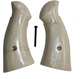 Smith & Wesson K & L Frame Real Fossilized Walrus Ivory Grips, Square Butt - 1 of 5