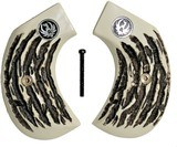 Ruger Birdshead Imitation Jigged Bone Grips With Medallions - 1 of 1