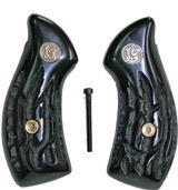 Smith & Wesson J Frame Imitation Jigged Buffalo Horn Grips, Medallions - 1 of 1