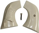 Ruger Wrangler .22 Revolver Ivory-Like Grips With Steer - 1 of 4