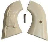 Heritage Rough Rider Large Bore SA Revolver Ivory-Like Grips With Steer - 1 of 1
