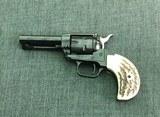 Heritage Rough Rider .22 Revolver Birdshead Jigged Bone Grips - 2 of 2