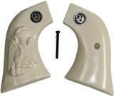 Ruger Wrangler .22 Revolver Ivory-Like Grips, Eagle & Snake & Medallions