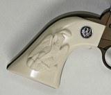 Ruger Wrangler .22 Revolver Ivory-Like Grips, Eagle & Snake & Medallions - 2 of 5