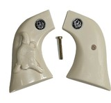 Ruger Wrangler .22 Revolver Ivory-Like Grips With Bison Skull & Medallions - 1 of 5