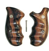 Smith & Wesson N Frame Smooth Goncalo Alves Wood Combat Grips, Round Butt - 1 of 3