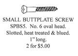 Small Shotgun & Rifle Butt Plate Screws Oval Head, 20 Screws