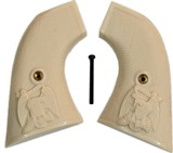 EMF 1873 SA Great Western II Revolver Ivory-Like Grips, Checkered With Eagle