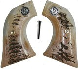 Ruger Wrangler .22 Revolver Repro Ram Horn Grips With Medallions - 1 of 1