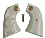 Colt SAA Ivory-Like Grips with Steer & Medallions 1st & 2nd Gen