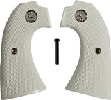 Colt Bisley SA Revolver Ivory-Like Grips, Checkered With Medallions