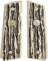 Ruger SR1911 Auto Imitation Jigged Bone Grips With Medallions - 1 of 1