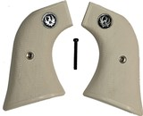 Ruger Wrangler .22 Revolver Ivory-Like Grips, Checkered With Medallions - 1 of 1