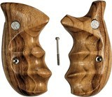 Smith & Wesson N Frame Smooth Goncalo Alves Wood Combat Grips, Round Butt - 1 of 4